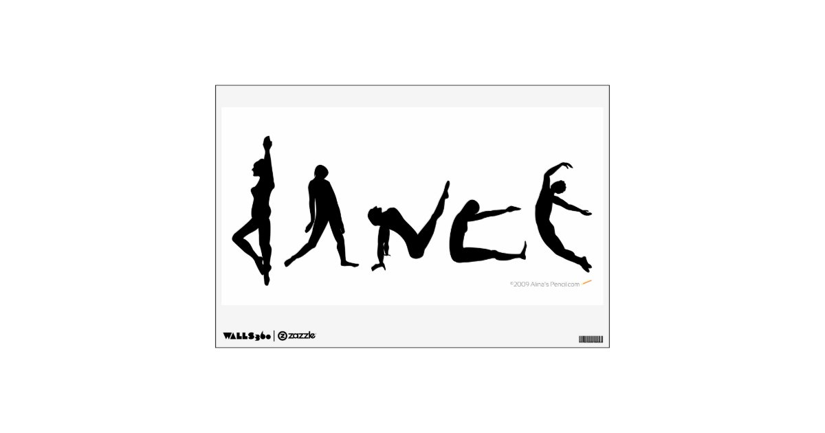 Dance Dancers Silhouettes Dancing Wall Decal | Zazzle.com