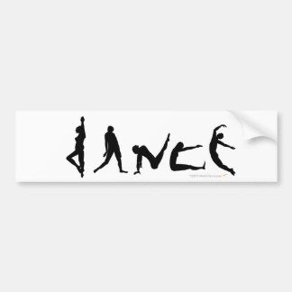 Dance Dancing Silhouette Design Bumper Sticker