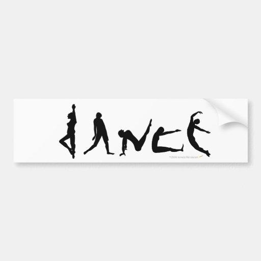 Dance Dancing Silhouette Design Bumper Sticker