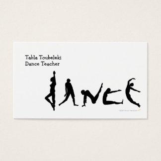 Dance Dancing Silhouette Design Business Card