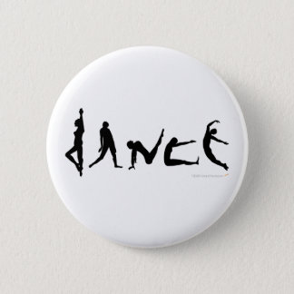 Dance Dancing Silhouette Design Button