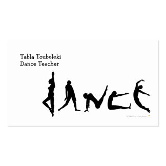 Dance Dancing Silhouette Design Double-Sided Standard Business Cards (Pack Of 100)
