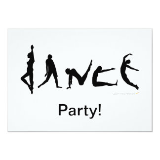 Dance Dancing Silhouette Design Custom Invitations