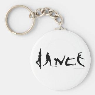 Dance Dancing Silhouette Design Basic Round Button Keychain
