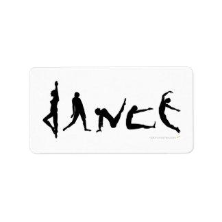 Dance Dancing Silhouette Design Label