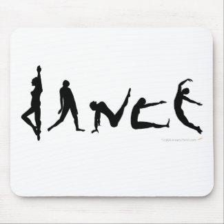 Dance Dancing Silhouette Design Mouse Pad