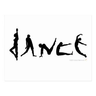 Dance Dancing Silhouette Design Postcard
