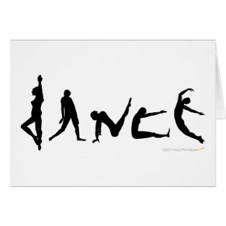 Dance Dancing Silhouette Greeting Card