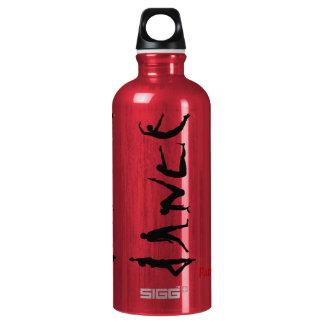 Dance Dancing Silhouettes Custom Name Reusable Aluminum Water Bottle