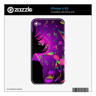 dance decal for iPhone 4
