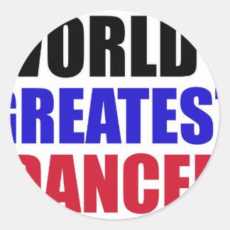 dance design classic round sticker