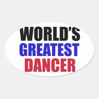 dance design oval sticker