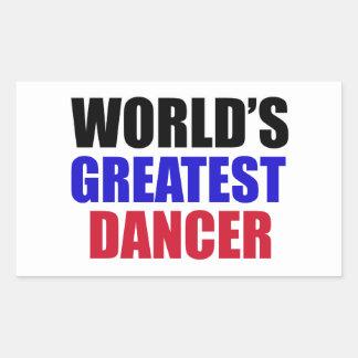 dance design rectangular sticker