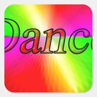 Dance Design Square Sticker