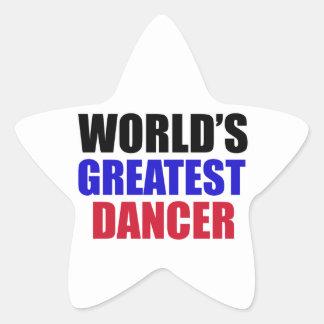 dance design star sticker