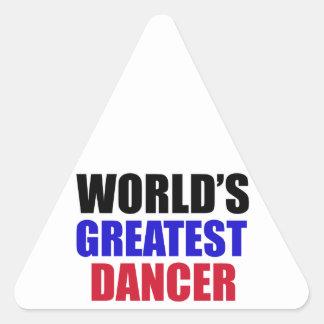 dance design triangle sticker