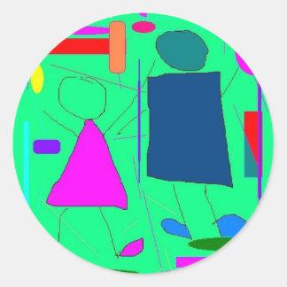 dance digital design stickers