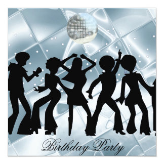 Dance Disco Birthday Party ice Invitation