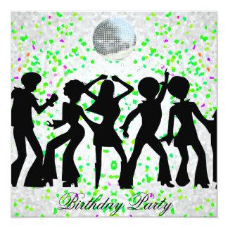 Dance Disco Birthday Party Invitation
