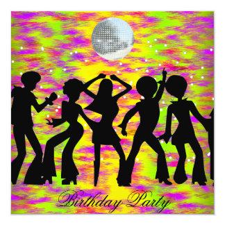 Dance Disco Birthday Party Invitation teal Custom Invites
