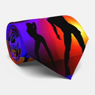 Dance Disco Party Girls Glow In The Dark Neck Tie