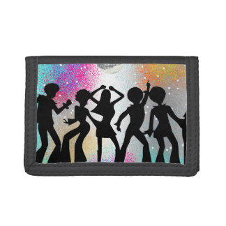 Dance Disco Party Trifold Wallet