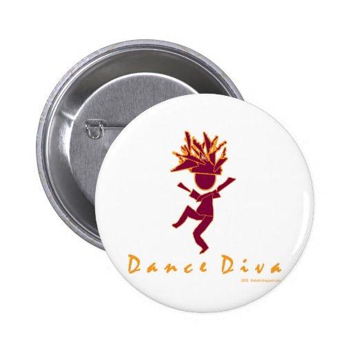 Dance Diva 2 Inch Round Button