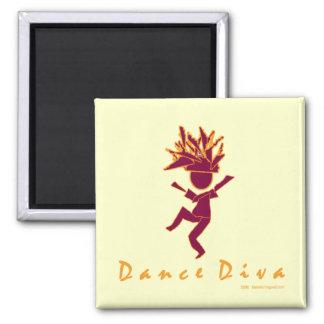 Dance Diva 2 Inch Square Magnet
