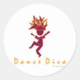 Dance Diva Classic Round Sticker