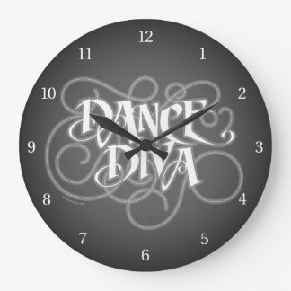 Dance Diva Large Clock