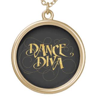 Dance Diva Round Pendant Necklace