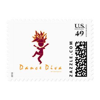 Dance Diva Postage Stamp