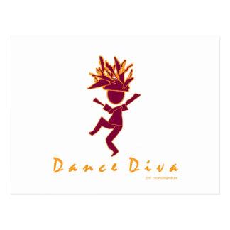Dance Diva Postcard