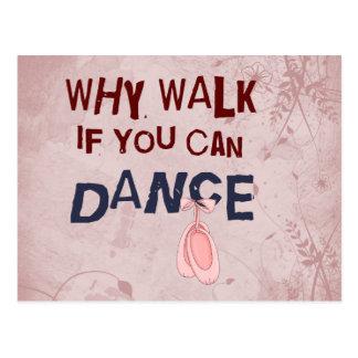 Dance don´t  Walk Post Card