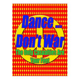 Dance Don't War Postcard
