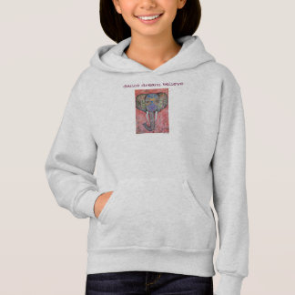 Dance Dream Believe Elephant Art Girls Hoodie