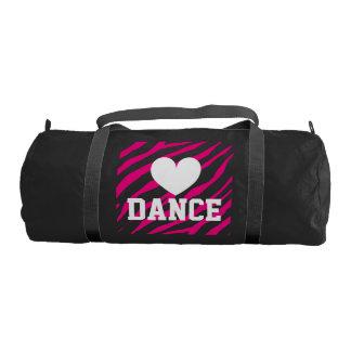 Dance duffle bags for women and girl | Zebra print Gym Duffle Bag