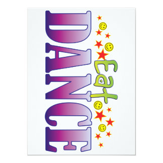 Dance Eat 5.5x7.5 Paper Invitation Card