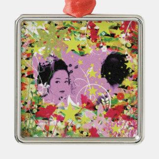 Dance eightfold dance 11 of flower metal ornament