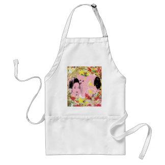 Dance eightfold dance 18 of flower adult apron