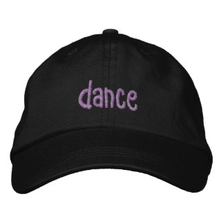 dance embroidered baseball cap