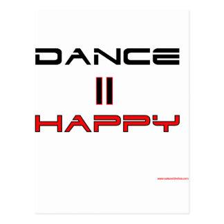 Dance Equals Happy Postcard