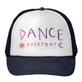 DANCE EVERYDAY Boho Quote *Sunset Ombre* Trucker Hat