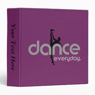 Dance Everyday Vinyl Binders
