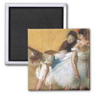 Dance Examination by Edgar Degas, Vintage Ballet 2 Inch Square Magnet