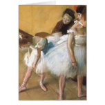 Dance Examination by Edgar Degas, Vintage Ballet Greeting Card