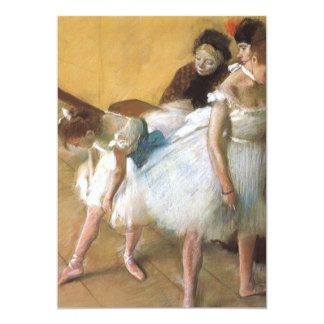 Dance Examination by Edgar Degas, Vintage Ballet Card
