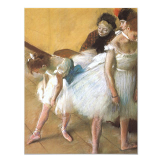 Dance Examination by Edgar Degas, Vintage Ballet Personalized Invite