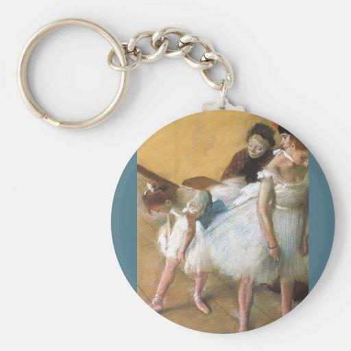 Dance Examination by Edgar Degas, Vintage Ballet Keychain