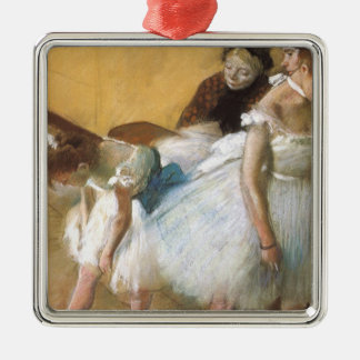 Dance Examination by Edgar Degas, Vintage Ballet Metal Ornament